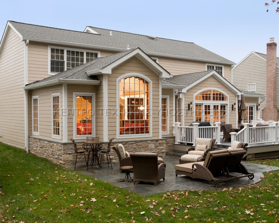 Gorgeous Whole House Renovation Exterior Modern Patio Design