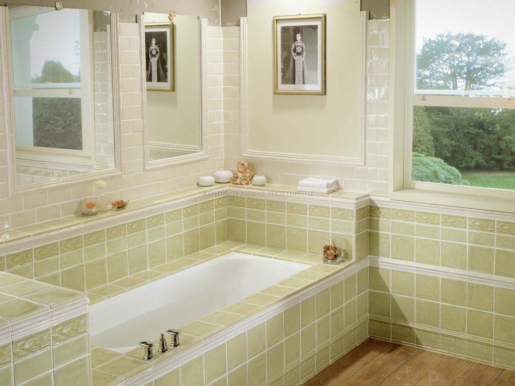 Ανακαίνιση μπάνιου Ανοιχτόχρωμο